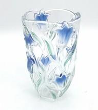 3 D Crystal Vase MIKASA Bluebells Green/Blue   SA163/620   - $64.99