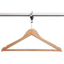 10X Wooden Security Hanger /Commercial Cloak Room Hotel B&B Wardrobe Clo... - $36.85