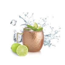 SET OF 10, Solid Copper Moscow Mule Vodka Beer Mug 18 Oz / 560 ml  - m04 - $84.90 CAD