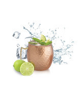 SET OF 10, Solid Copper Moscow Mule Vodka Beer Mug 18 Oz / 560 ml  - m04 - £53.17 GBP