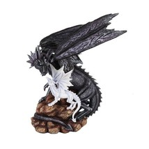 14.75 Inch Dragon Protecting Young Hatchling Statue Figurine - $98.88