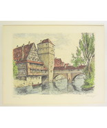 Nuremberg Executioners Bridge Print Hand Pulled by Jllenberg - $39.20