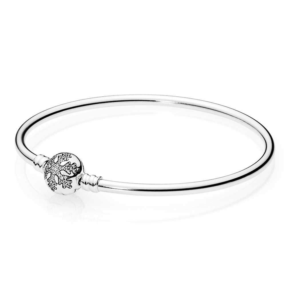 05 01 36r pandora unique snowflake bangle 590740cz