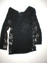 New Womens 8 NWT Designer Italy Emilio Pucci 42 Black Long Sleeve Top La... - $924.50