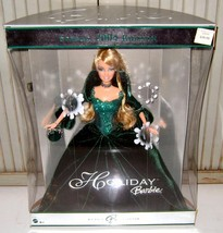 2004~HOLIDAY EDITION~BARBIE~GREEN VELVET GOWN~COLLECTOR DOLL~NEW IN BOX~... - $37.39