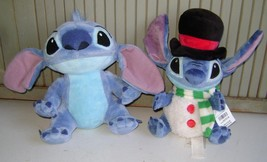 LILO STITCH~DISNEY PARK PLUSH~WINTER STITCH~TOP HAT~STUFFED~STORE EXCLUS... - $18.69