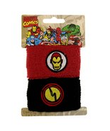 Marvel Comics Ironman Double Cuff Sweat Bands Pony Tail Wraps 8008 - $12.86