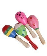 1 Piece Colorful Wooden Maracas Musical Baby Ch... - $1.75