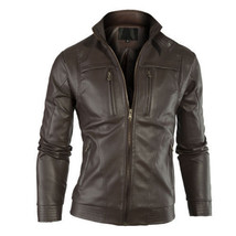 Mens Club Brown Real Leather Jacket Vintage Slim Fit Retro Genuine New XS-3XL - $69.29+