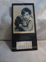 1940 Calendar MA Senator Joseph L Murphy Boy & Dog Print Sympathy J Know... - $19.80