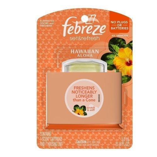 Febreze Set and Refresh Hawaiian Aloha Air Freshener , 0.18-Fluid Ounce (Pack of