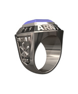 US ARMY RING MENS CHAMPIONSHIP STYLE-Silvertone - $249.00