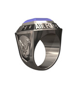 US AIR FORCE RING MENS CHAMPIONSHIP STYLE-Silvertone - $249.00
