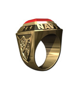 US NAVY RING MENS CHAMPIONSHIP STYLE-14KT GOLD - $1,749.00