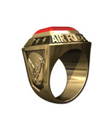 US AIR FORCE RING MENS CHAMPIONSHIP STYLE-14KT GOLD - $1,749.00