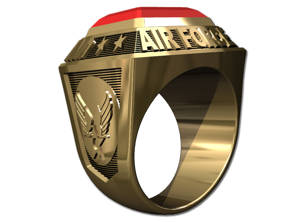 US AIR FORCE RING MENS CHAMPIONSHIP STYLE-10KT GOLD