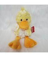 "13"" Russ Berrie Sunflower Duck Chick Yellow White Orange 27889 Plush Toy... - $14.99"