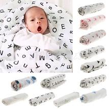 1pc Newborn Baby Nursery Muslin Swaddling Blank... - $6.69