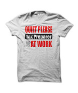 Quiet please tax preparer at work men white thumbtall