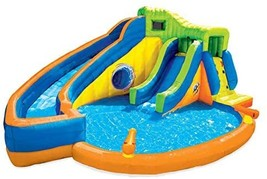 BANZAI Pipeline Twist Kids Inflatable Outdoor Water Pool Aqua Park and Slides - £2,236.90 GBP