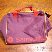 "Vtg 1991 SAMSONITE Schoolpaks Purple Gold Red Gym Travel Duffle Bag 16"" ... - $33.99"