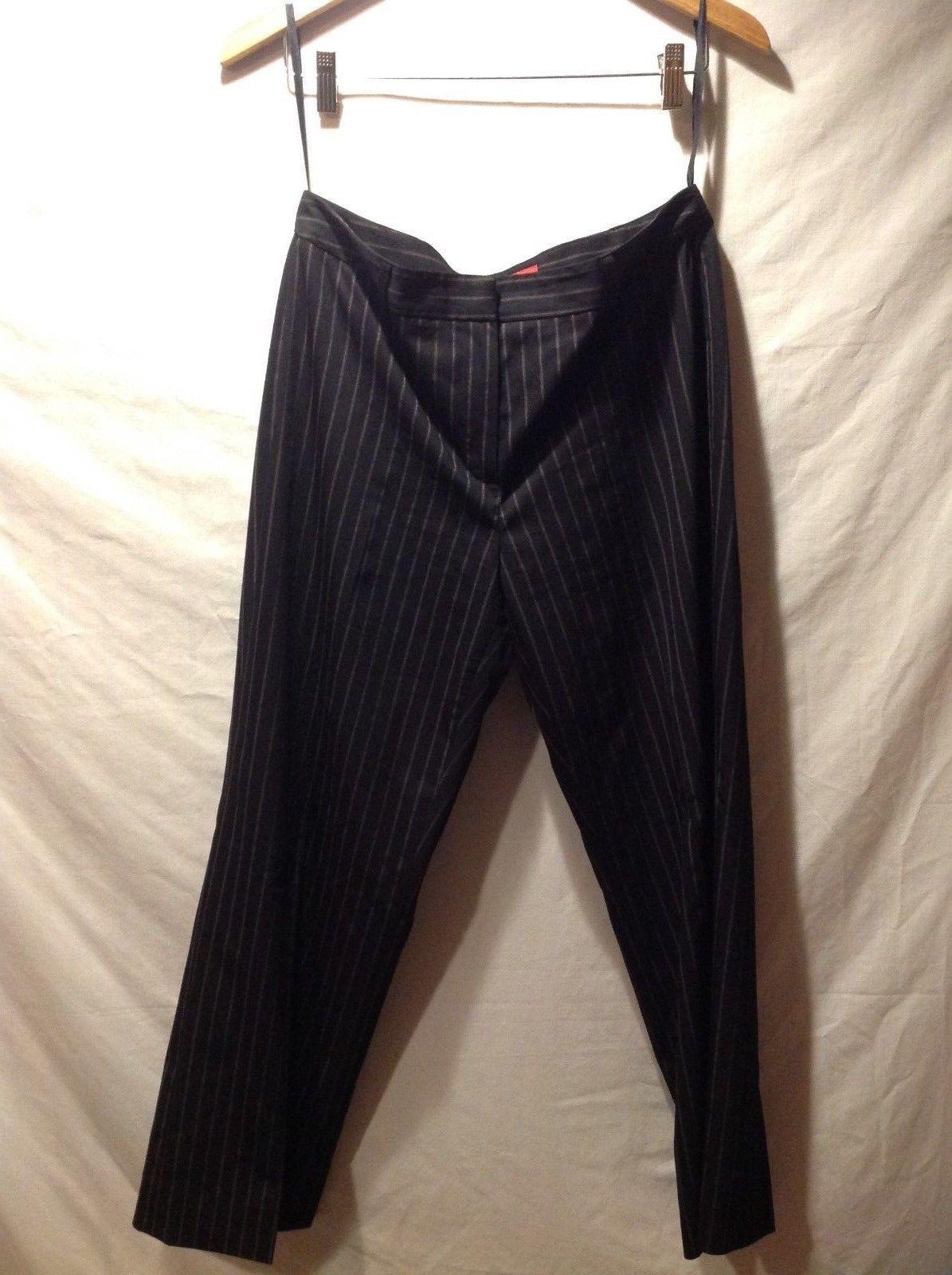 Ann Klein Black Striped Pants Size 10P