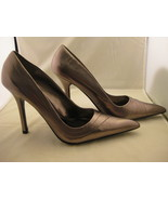 Aldo Pewter Womans High Heel Shoes Size 7.5 - $38.00