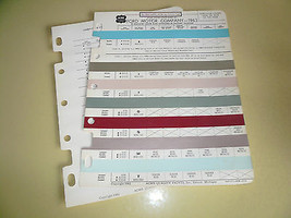 1963 Ford ACME Color Chip Paint Sample - $7.84