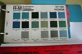 1977 78 79 80 81 Honda R-M INMONT Color Chips - $7.84
