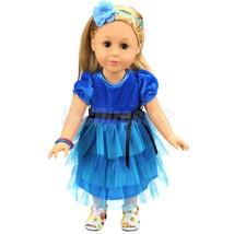 Blue Dress with Fixed Black Belt for 18'' Ameri... - $3.52