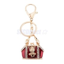 Delicate Mini Handbag Charm Alloy Key Ring Keyc... - $2.94
