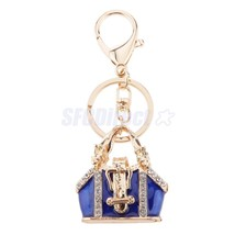 Delicate Mini Handbag Charm Alloy Key Ring Keyc... - $2.63