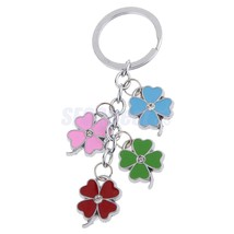 Four-leaf Clovers Charm Pendant Purse Bag Hangi... - $1.67