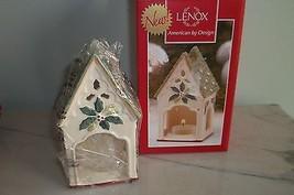 "Lenox WINTER GREETINGS Birdhouse Votive American by Design  5"" NIB - $14.01"