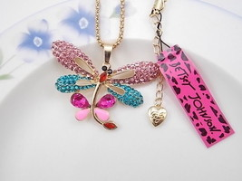 *NEW* BEAUTIFUL BETSEY JOHNSON DRAGONFLY NECKL... - $14.84