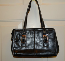 Kenneth Cole Reaction Purse Black Leather Look ... - $13.99