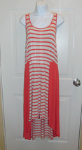 Design History High Low Coral & Off White Dress Size Medium *EUC - $12.99