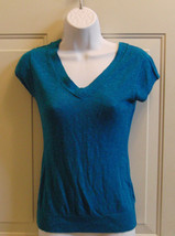 GAP Teal Blue Thin Blouse Size XS *EUC *Free Shipping* - $9.99