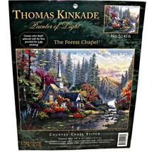 Thomas Kinkade Candamar Counted Cross Stitch Kit The Forest Chapel # 51416 - $49.99