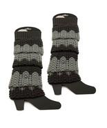 Gray Knitted Leg Warmers - Christmas Acrylic Knee High Socks - $6.79