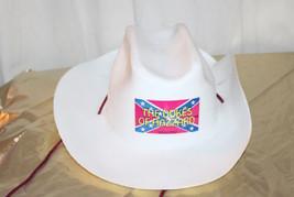 Rare Vintage Dukes of Hazard Cowboy Hat White Plastic 1981 - $51.43