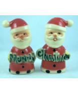 Vintage Brinnco hard plastic Santa Merry Christ... - $15.00