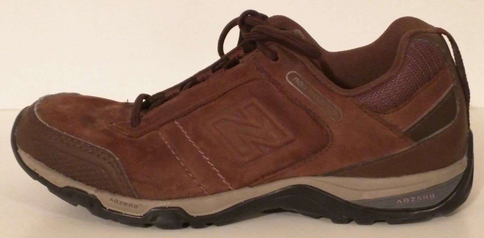 NEW BALANCE ABZORB WWW628BR - Brown Leather Walking Shoes - Women's Size: 6 - $69.41