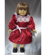 "Samantha or 18""/American Girl Christmas Party Dress - Handmade - $22.95"