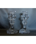 Gorham Baroque (Nachtman) Lead Crystal Medium Taper Candle Holders Germany - $17.99