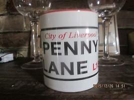 NEW BEATLES LIVERPOOL PENNY LANE CERAMIC MUG LENNON, MCCARTNEY, HARRISON... - £10.61 GBP