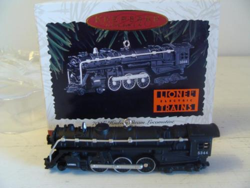 700E Hudson Steam Locomotive Lionel Train Hallmark Ornament & Box #1 Series 1996