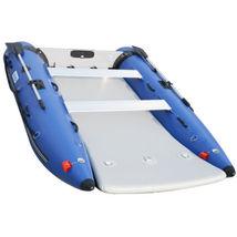 BRIS 11 ft Inflatable Catamaran Inflatable Boat Dinghy Mini Cat Boat Blue  image 8
