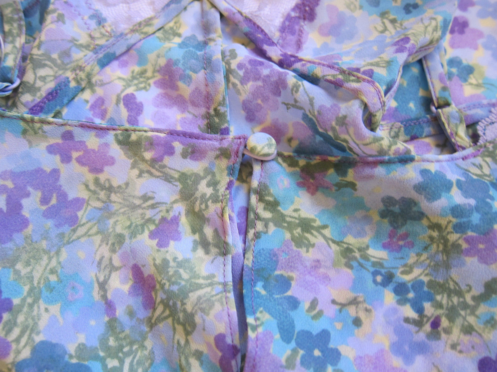 de5852a9c VINTAGE Victoria s Secret NWT Floral Sheer Thong Thong Teddy Lingerie MEDIUM