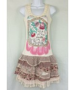 Poupee Chic Miguel Taldea Spain Sleeveless Lace Tiered Layered Ruffle Dr... - $23.44